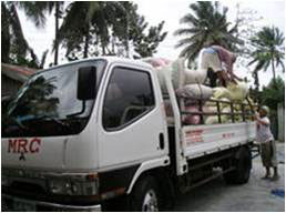 Delivering milled rice to market